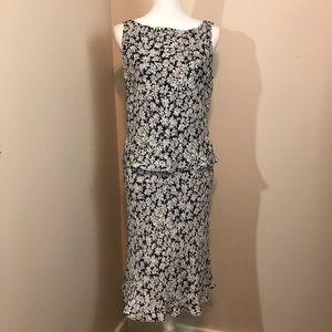 Ralph Lauren Floral Silk Top and Skirt Set